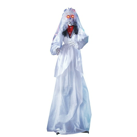 Scary Animated Wedding Skeleton Halloween Decoration , 68