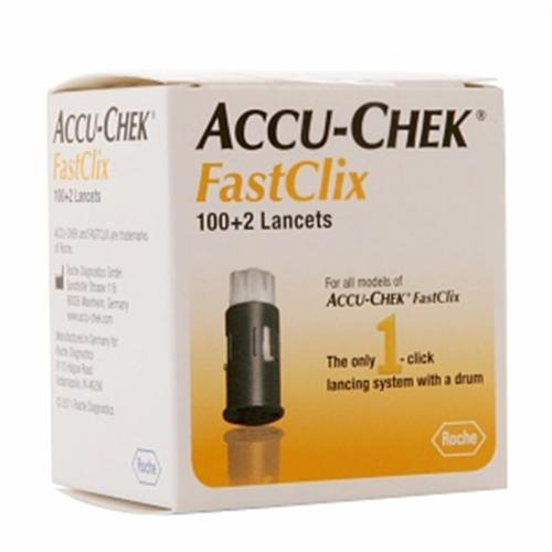 ACCU-CHEK FastClix Lancets 102 Each (Pack of 3)