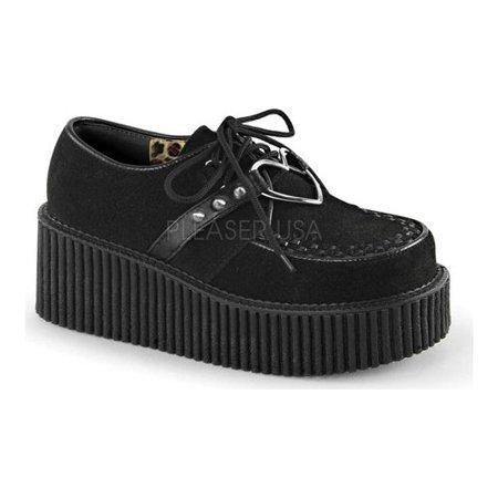 Women's Demonia Creeper 206 Creeper Leather Star Creeper Shoe