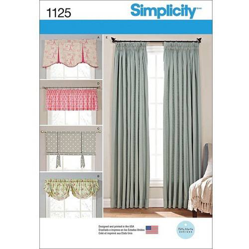 Simplicity Window Treatments, One Size by Simplicity Patterns
