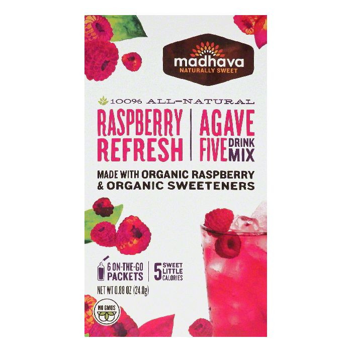 Madhava Drink Mix, Agave Five, Raspberry Refresh