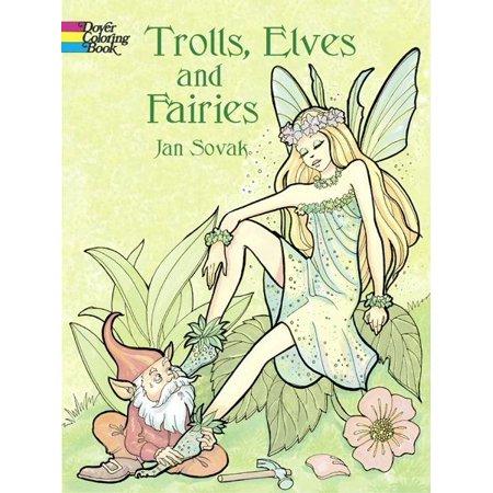 Trolls, Elves and Fairies Coloring Book - Walmart.com