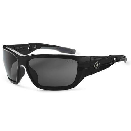 Ergodyne Skullerz Baldr Safety Sunglasses-Black Frame, Smoke Lens