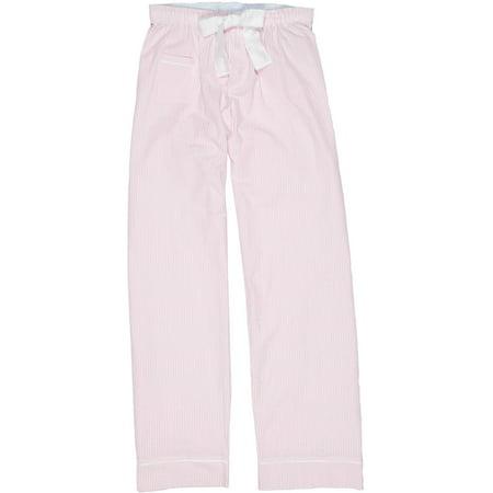 Size Large Womens Cotton Seersucker Pajama Pants, Cotton Candy Pink