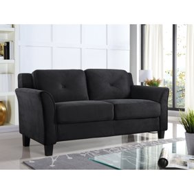 Phenomenal Harperbright Designs Adjustable Backrest Loveseat Black Pabps2019 Chair Design Images Pabps2019Com