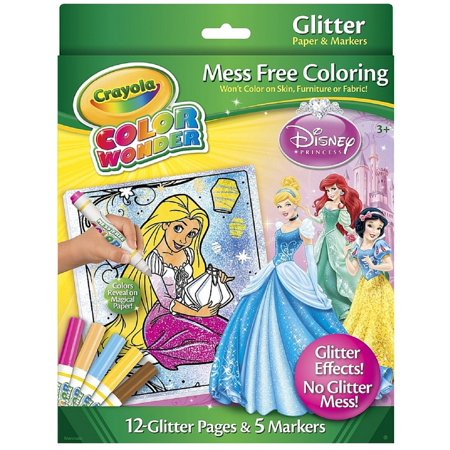 crayola color wonder glitter coloring pages and markers princess