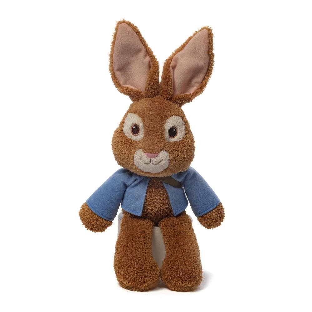 Gund Peter Rabbit Take Along Stuffed Animal, Floppy Peter Rabbit plush complete with blue... by
