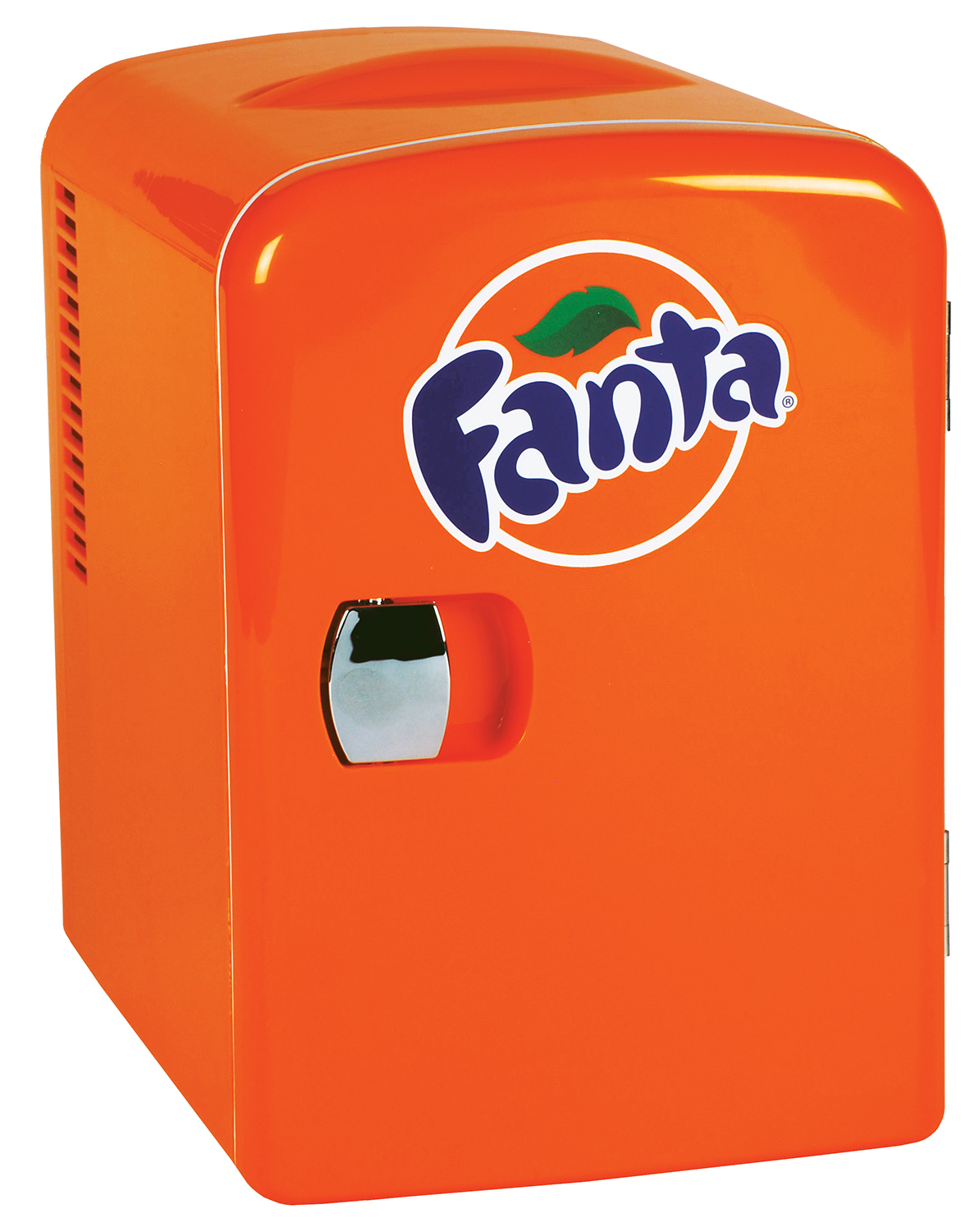 Fanta 4 Liter/6 Can Portable Fridge/Mini Cooler for Food, Beverages, Skincare - Use at Home, Office, Dorm, Car, Boat - AC & DC Plugs Included