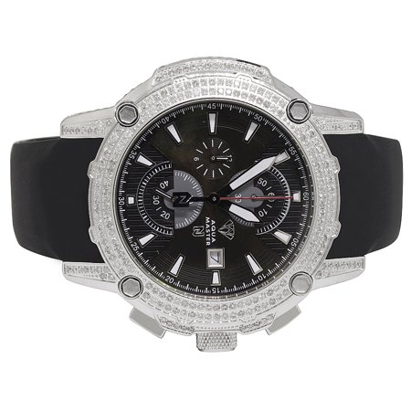 Aqua Master Aqua Master White Gold Steel Nicky Jam Diamond Watch Nj2 5 0 Ct