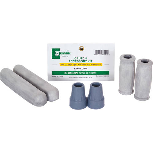 Essential Medical Supply Crutch Accessory Kit - Pair of Underarm Pads, Hand Grips and Tips
