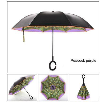Car umbrella C-type umbrella handle can stand rain or shine dual umbrella Dual Function Umbrella