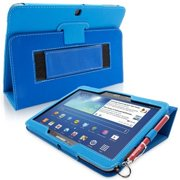 Snugg B00EQ6786S Galaxy Tab 3 10. 1 Case Cover and Flip Stand, Electric Blue Leather