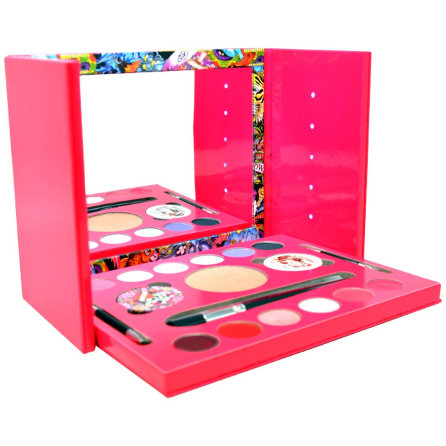 Christian Audigier Ed Hardy Color Geisha for Women Makeup Set, 19 pc