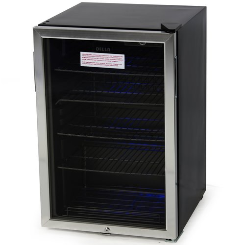 Della Beverage Center Cool Built-In Cooler Mini Refrigerator Fridge Freestanding w/ Lock