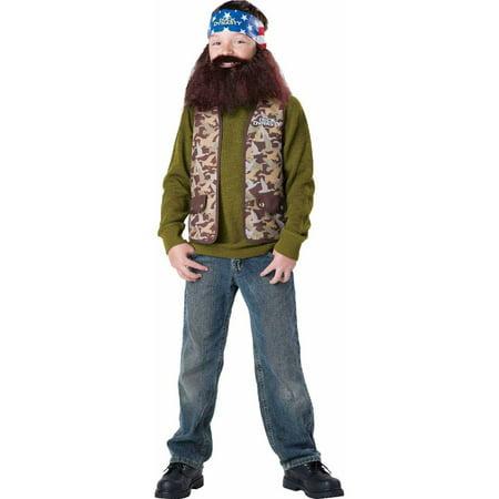 Duck Dynasty Willie Boys' Child Halloween - Duck Dynasty Halloween Costume Uncle Si