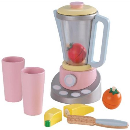 Kidkraft Pastel Smoothie Wood Kids Pretend Play Set With Fruits 63305