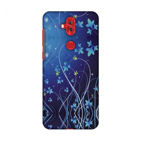 Lily Cell Phone Snap - Asus Zenfone 5 Lite ZC600KL Case - Midnight Lily, Hard Plastic Back Cover, Slim Profile Cute Printed Designer Snap on Case with Screen Cleaning Kit