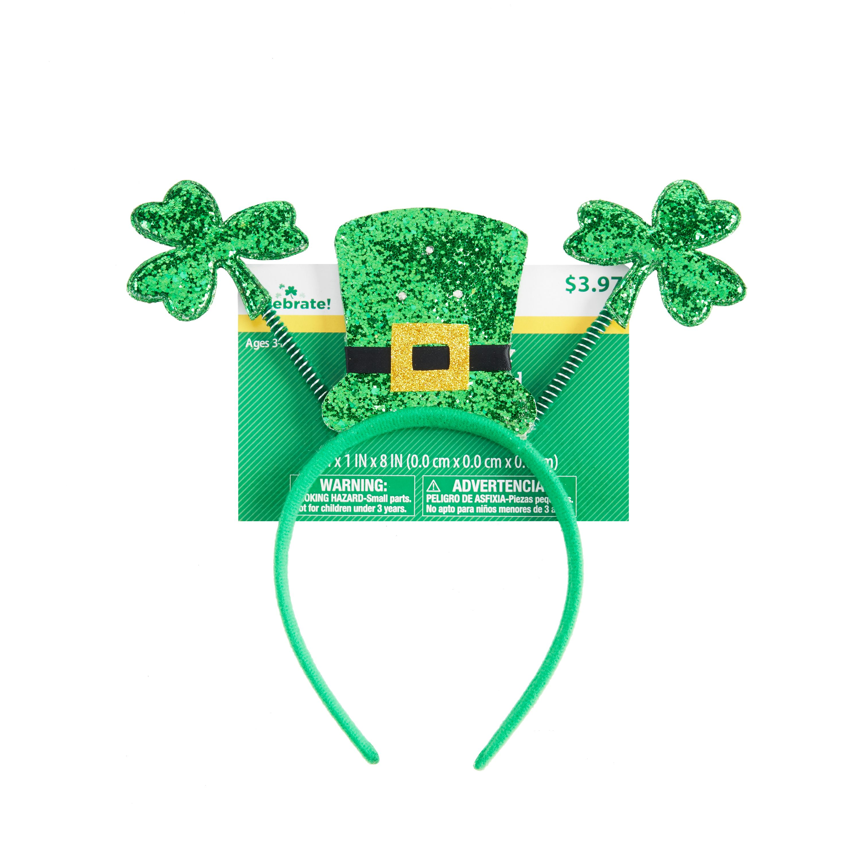 Way To Celebrate St. Patrick's Day Light-Up Glitter Headband