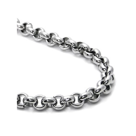 - Titanium 6MM Rolo Men's Necklace Chain 16