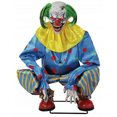 Halloween Animatronics Wholesale (lonestar wholesalers halloween life size animated crouching blue killer clown prop animatronic)
