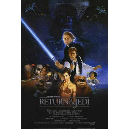 Return of the Jedi Star Wars 24x36 Poster Movie Art Print, High Quality Poster Print By (Jedi Art)