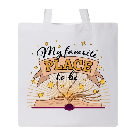 My Favorite Place to Be with an Open Book Tote (Places That Deliver Near My Location Open Now)
