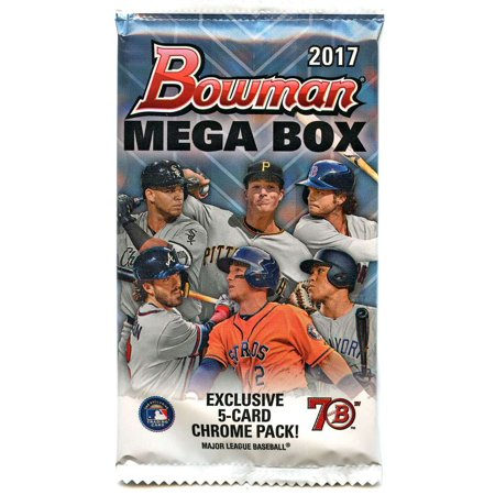 2005 Bowman Chrome Football Card - MLB 2017 Bowman MEGA BOX Chrome Trading Card Pack
