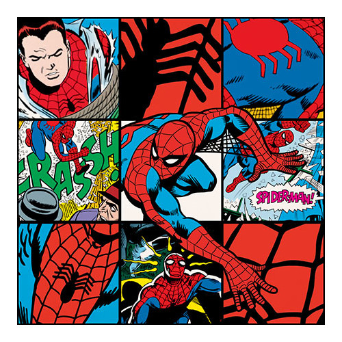 iCanvas Marvel Comics Spider-Man Collage Poster Graphic Art on Canvas