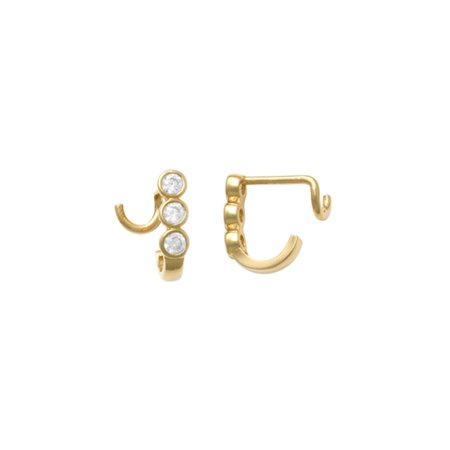 03d64547d BODY EXPRESSIONS - 10kt Solid Yellow Gold Nose Ring With U-post -  Walmart.com
