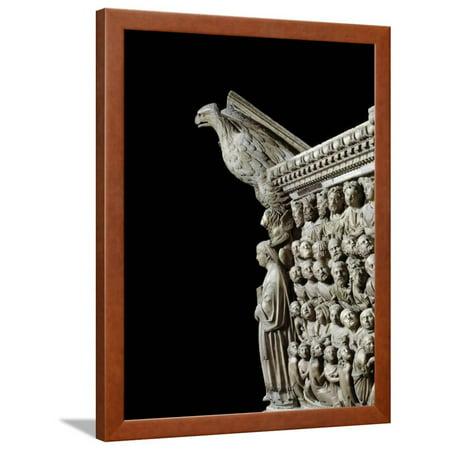 Gothic Art: an Eagle, by Pisano Framed Print Wall Art
