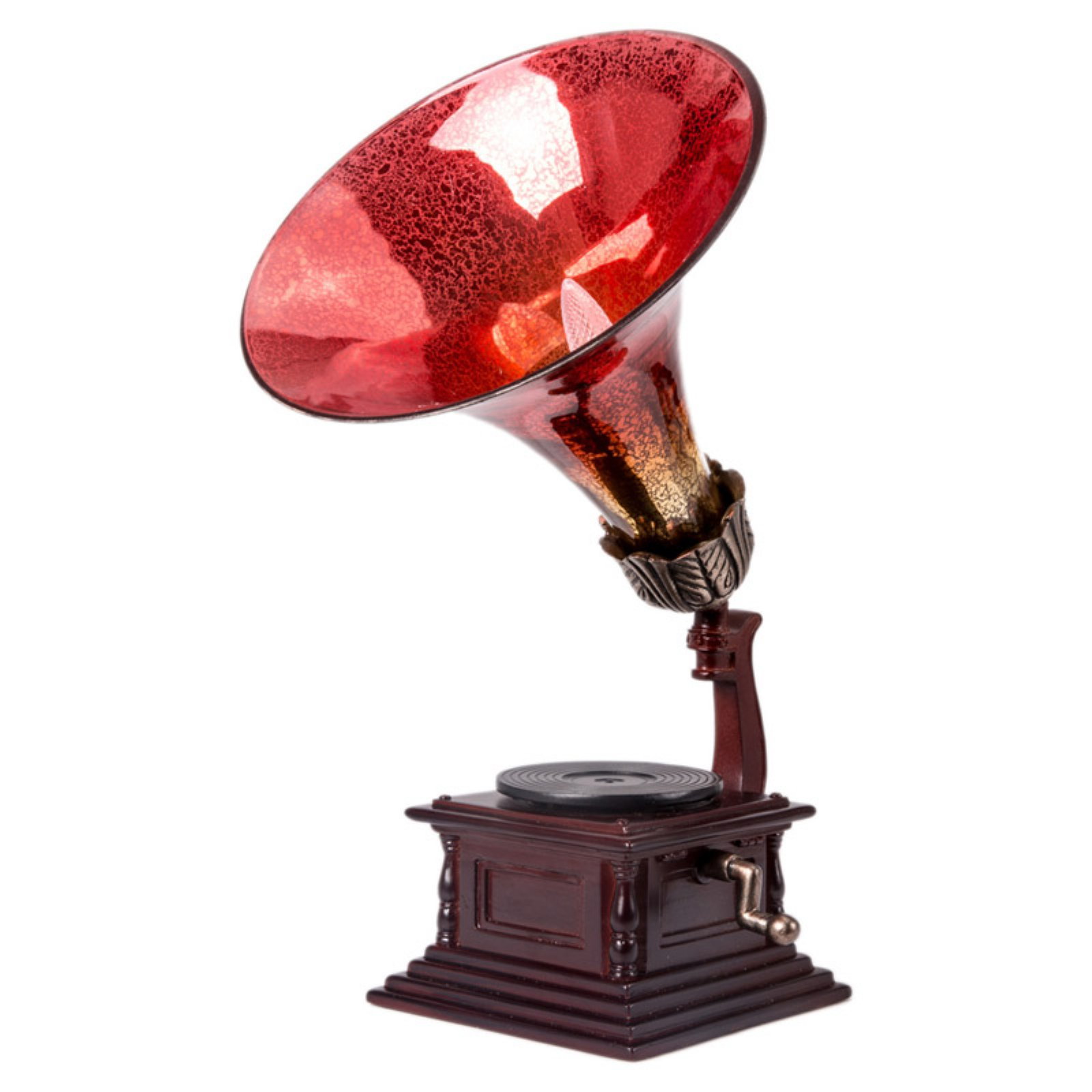 River of Goods 14502S Gramophone Table Lamp with Music Box