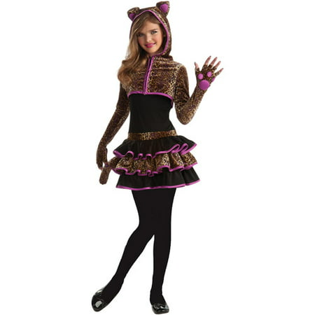 Flirty Leopard Teen Halloween Costume - Pretty Leopard Child Costume