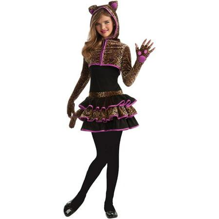 Easy Halloween Ideas For Teens (Flirty Leopard Teen Halloween)