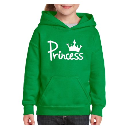 Princess Crown Unisex Hoodie For Girls and Boys Youth Sweatshirt