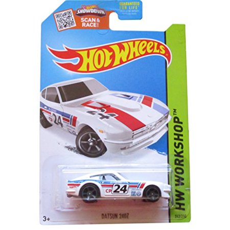 Hot Wheels HW Workshop 243/250 White Datsun 240z