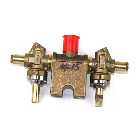 charmglow replacement gas valve brass t manifold cc-1 natural gas vlv15b