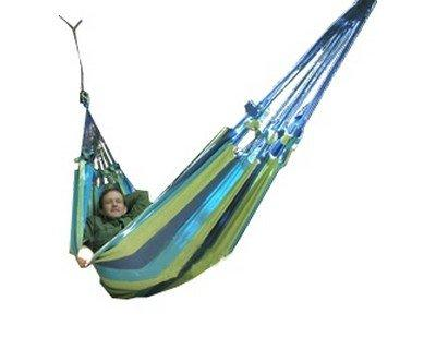 Click here to buy Roatan Woven Hammock, Blue by Grand Trunk.