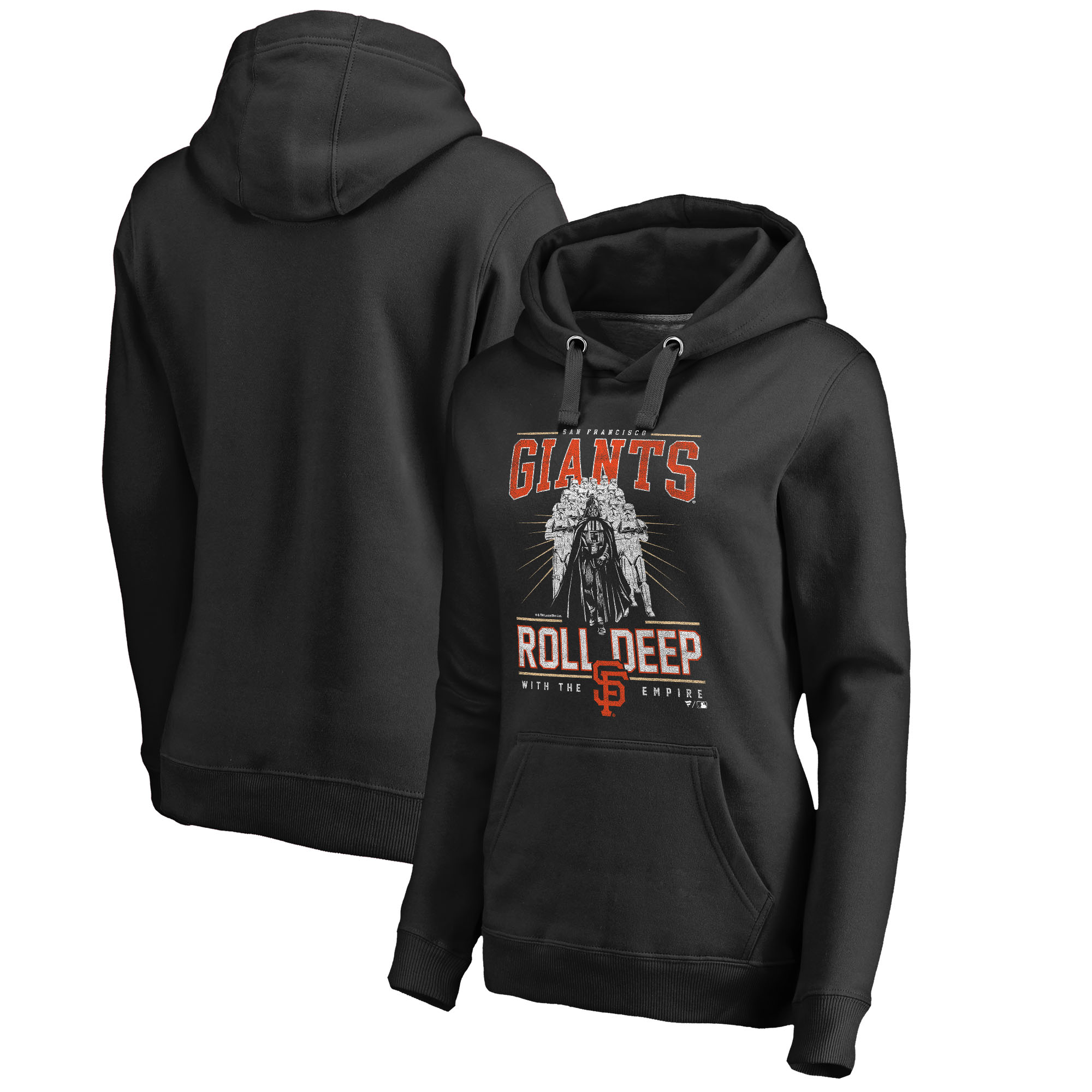 San Francisco Giants Fanatics Branded Women's Roll Deep with the Empire Pullover Hoodie - Black