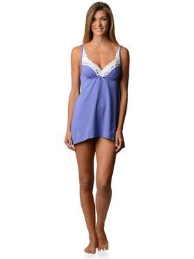 Casual Nights Women's Sleepwear Eyelet Lace Sweatheart Chemise Nightie Slip