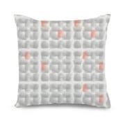 popeven gray and coral decorative pillow cover - Coral Decorative Pillows