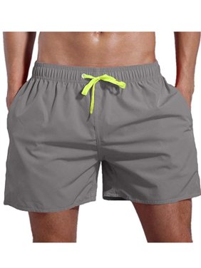 Men's Beach Board Shorts Cotton Running Summer Casual Trunks Swimwear