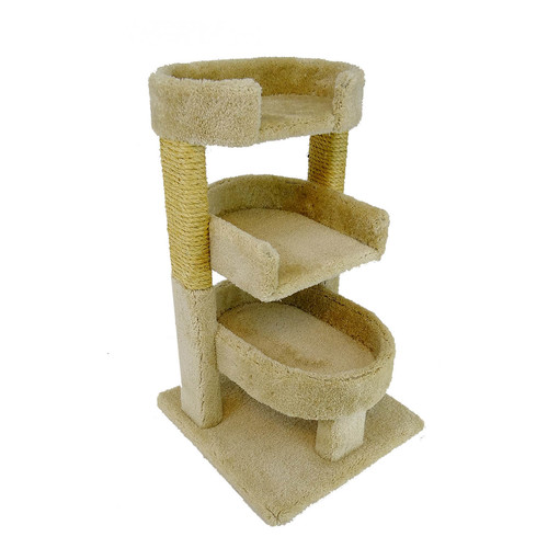 New Cat Condos New Cat Condos Round 33'' Triple Cat Perch by