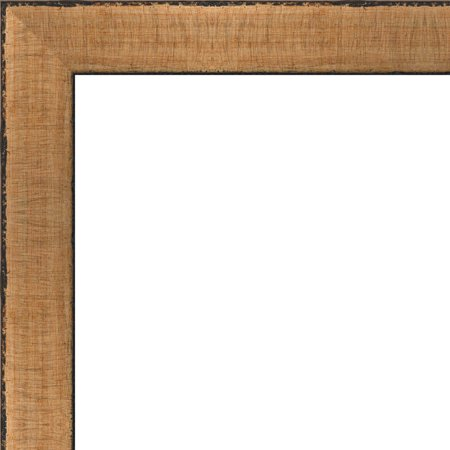 5x7 Rustic Scratched Gold Wood Frame - Great for Posters, Photos, Art Prints, Mirror, Chalk Boards, Cork Boards and ()