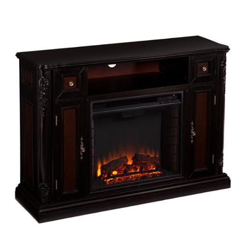 Upton Home Ellis Ebony Media Console/ Stand Electric Fireplace
