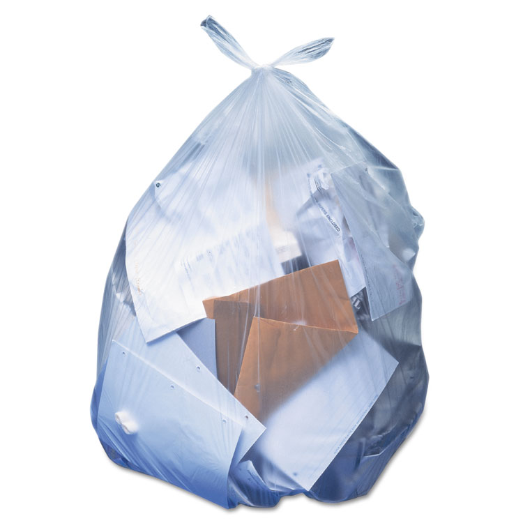 Heritage Low-Density Can Liners, 56 gallon, Clear, 100 count