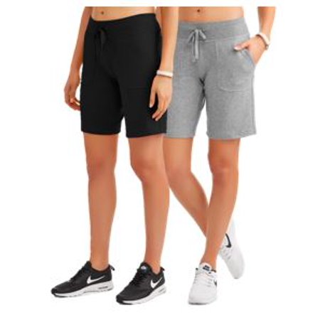Women's Athleisure French Terry Bermuda Shorts 2-Pack Bundle](Reno 911 Shorts)
