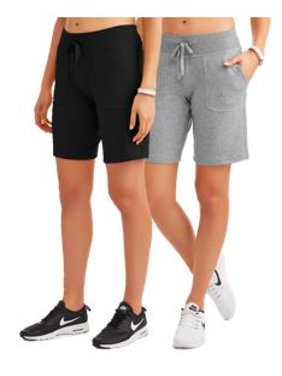 be26cb1bdb61 Women's Athleisure French Terry Bermuda Shorts 2-Pack Bundle