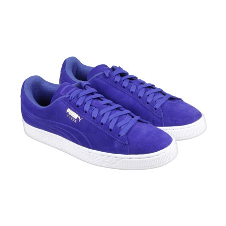 Puma Suede Classic Debossed Q3 Mazarine Blue Mens Lace Up Sneakers