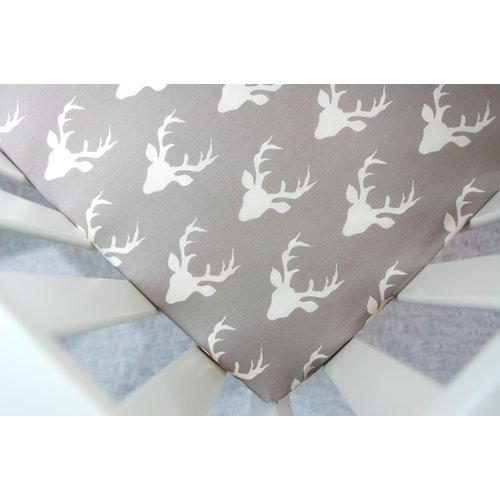 Little Moose by Liza Buck Forest Fitted Crib Sheet
