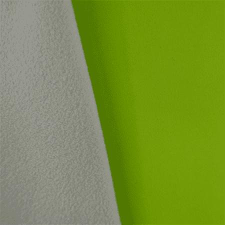 Soft Shell Fleece - Neon Green/Light Gray, Fabric By the (Neon Soft Shell)